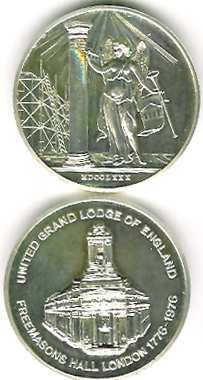 TH156-157 The 1976 pair of Freemasons Hall Bi-Centenary medals.-0