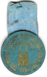 TH277 Royal Masonic Institution for Boys cardboard 1945 stewards jewel.-0