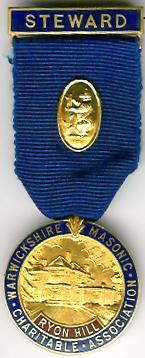 TH353 The 1952 Warwickshire Masonic Assn. Ryon Hill jewel.-0