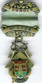 TH451-2706 Foster Gough Lodge No. 2706 Victorian Founders Jewel.-0