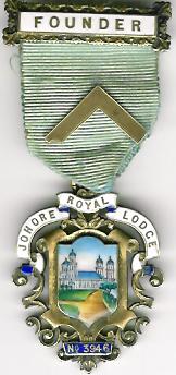 TH451-3946 Johore Royal Lodge No. 3946 Founders jewel.-0