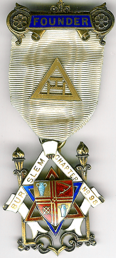 TH451-0098 Burslem Chapter No. 98 Founders jewel-0