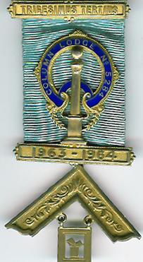 TH455-5284 Column Lodge No. 5284 Past Master's jewel-0