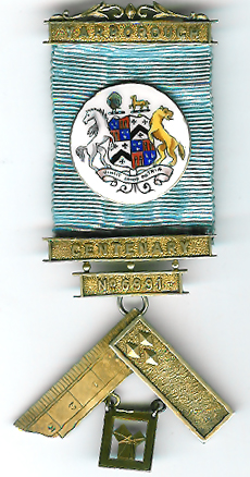 TH455-6991 Yarborough Centenary Lodge No. 6991 Past Master's jewel.-0