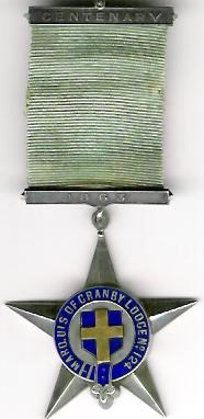 TH540-124 Marquis of Granby Lodge No. 124 Pre-Regulation Centenary jewel-0