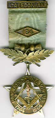 TH542-134 Caledonian Lodge No. 134 Pre-Reguation Centenary jewel-0