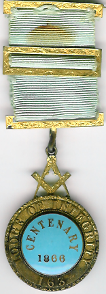 TH550-163 Lodge of Integrity No. 163 Pre-Regulation Centenary jewel-0