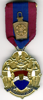 TH734a The Mark Keystone Charity jewel with a bronze keystone on ribbon.-0