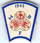 TH720 Mark Benevolent Fund 1943 wartime cardboard stewards jewel.-0