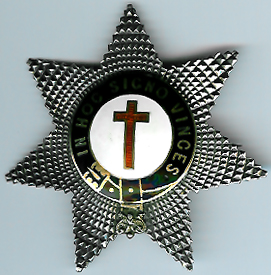 Knights Templar 1865 hallmarked silver-gilt very large Knights Star. -0