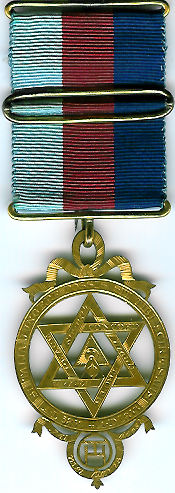 TH602a Large mid-Victorian 1853 Royal Arch gilt Chapter member's jewel-0