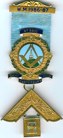 TH455-8810 Dane John Lodge No. 8810 Past Master's jewel.-0