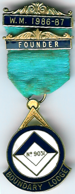 TH451-9031 The Founders Jewel for Boundary Lodge No. 9031.-0