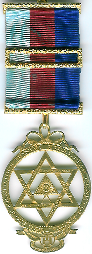 TH601 (e) An Official silver-gilt Thomas Harper reproduction Royal Arch member's jewel dated 1803 and 5807 with a London/Provincial Grand Lodge ribbon-0