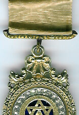 TH604 A truly beautiful and very ornate extra large mid-Victorian Royal Arch Chapter jewel with brilliants.-0