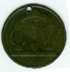 TH192p The rare pierced CW Royal Arch Token.-0