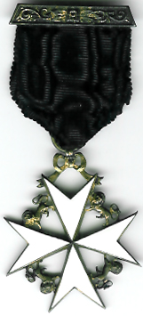 Knights of Malta Knights Cross silver Breast Jewel-0