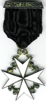 Knights of Malta Knights Cross silver Breast Jewel-0