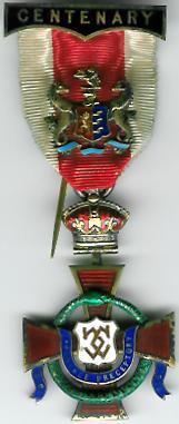 Prudence Preceptory silver Centenary Rose Croix jewel 1810-1910-0