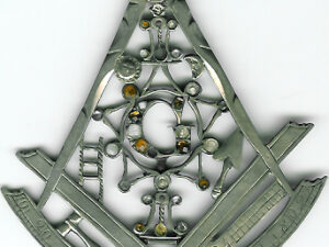 TH19-293 A rare symbolic silver Georgian Past-Masters jewel for King's Friends' Lodge No. 293 c1820-0