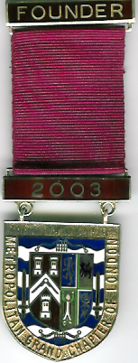 TH261 The 2003 silver Founders Jewel for the Metropolitan Grand Chapter of London.-0