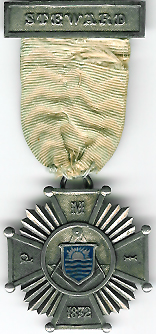 TH302a the 1872 silver Stewards jewel for the Punjab Masonic Institution.-0