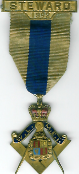 TH304 1892 West Lancashire Masonic Educational Institution Steward's jewel-0