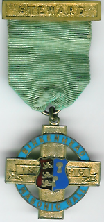 TH314-1896 The Birkenhead Masonic Ball Stewards jewel for 1896 -0