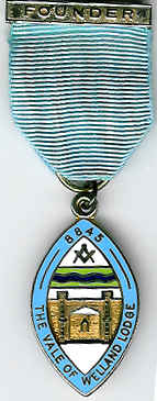 TH451-8845 The Vale of Welland Lodge No. 8845 Founder's jewel-0