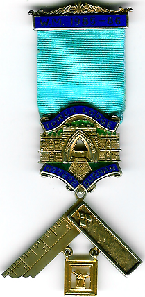 TH455-7292 Tower Lodge No. 7292 silver Past-Master's jewel-0