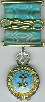 TH512 United Mariner's Lodge No. 30 Pre-regulation silver centenary jewel.-0