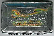 The original 1852 Henry Muggeridge hallmarked silver engraved snuff box.-0
