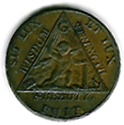 TH180 (01) 1790 Sketchley Masonic Halfpenny Token.-0