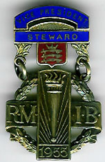 TH280 The 1955 RMIB Vice-President's silver Steward's jewel -0