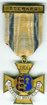 TH314-1900 The Birkenhead Masonic Ball Stewards jewel for 1900-0