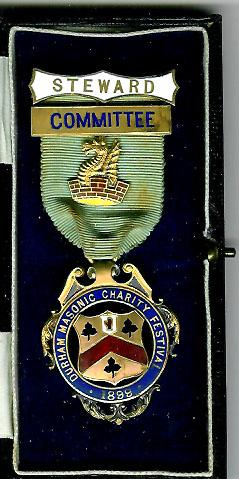 TH320C The 1899 Durham Masonic Festival Committee Member's Steward's jewel.-0